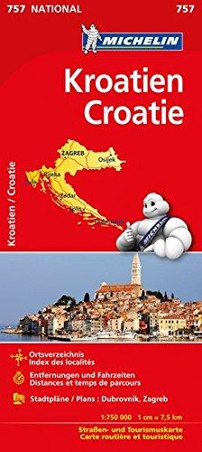 Michelin Kroatien: Straßen- und Tourismuskarte (MICHELIN Nationalkarten)