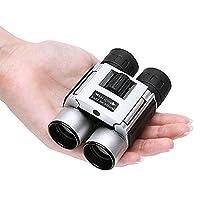 FELiCON Mini Binoculars Compact Folding Binoculars 30??22 Optic Zoom Lens FMC BaK4 Pocket Outdoor Binoculars Telescope Waterproof for Adults Bird Watching Football Sightseeing Climbing Concerts