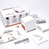 CUBODOMO Digitales Raumthermostat Set mit Würfel und Relaissonde für Fernsteuerung, intelligente Heizung mit Geolocation über Smartphone CUBODOMO