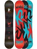 Sconosciuto K2Vandal Wide Freestyle Snowboard Ragazzo Baseline, Ragazzo, Snowboard Vandal Wide Freestyle Baseline, Multicolore, 145 cm