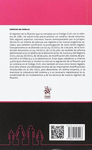 La Reforma de la Filiación . Su Nuevo Régimen Jurídico (Derecho de familia) leer libros online gratis en español