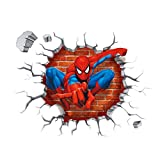 Spiderman Aufkleber Kreuz Wand Sticker für Kinder Schlafzimmer Wohnzimmer Kinderzimmer Hintergrund Entfernbare Dekor Abziehbilder