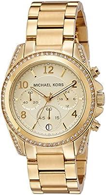 Michael Kors MK5166 - Reloj de cuarzo con correa de acero inoxidable para mujer, color dorado