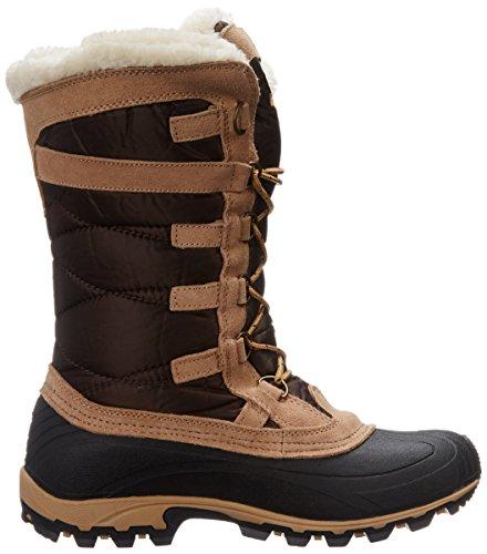 Bottes d'hiver Kamik femmes Snow Valley bottes fourrées NK 2079 Vert Olive Dark Brown