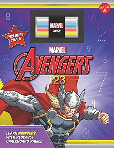 Marvel's Avengers Chalkboard 123: Learn Numbers with Reusable Chalkboard Pages! (Licensed Chalkboard Concepts)