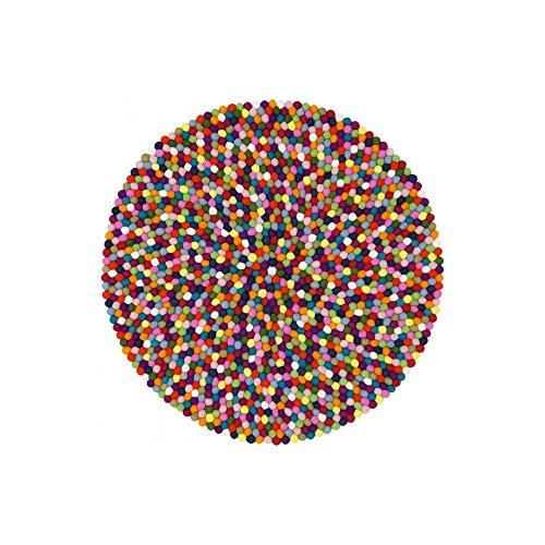myfelt Fieltro Bola Alfombra Lotte–, Fieltro, carbón, 50 x 50 x 2 cm
