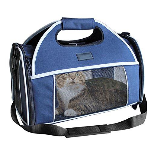 8e58bc3d6 QINAIDI Pet Cat Carrier Soft Puppy Ligero Carry Bags para Mascotas Outdoor  Travel Walking, Bolsa