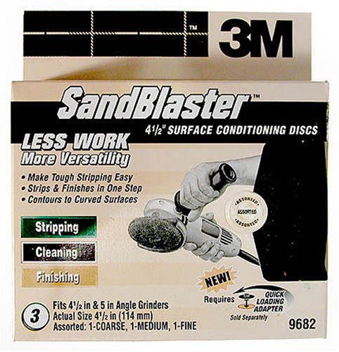 3M englischsprachig SandBlaster 4–1/2Zoll multi-grit Oberfläche Conditioning Disc
