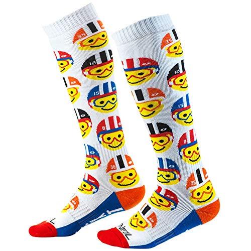 O\'NEAL Pro MX Emoji Racer Youth Kinder Socken weiß/rot/blau Einheitsgröße 2020 Oneal