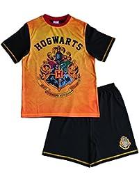 Jungen HARRY POTTER kurz Schlafanzug Harry Potter Schlafanzüge Hogwarts Pyjama Alter 7bis 13Jahren Gr. 11-12 Jahre, schwarz