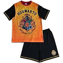 Harry Potter Boys Short Pyjamas Pajamas Hogwarts Pjs Ages 7 to 13 Years