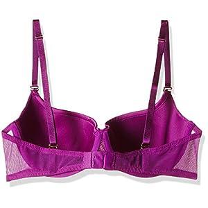 Amante Women's Lace Balconette Bra (BGET01_Wild Orchid_36C)