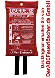 Löschdecke 1 x 1 m, geprüft durch MPA Dresden. DIN EN 1869:2001, für Küche Fettbrände Fettbrand Brandschutzdecke Feuerlöschdecke Auto 100 x 100cm