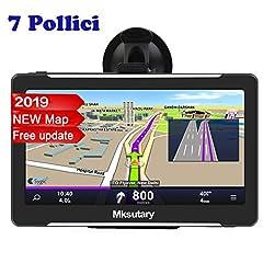 Idea Regalo - GPS per Auto, Schermo di Navigazione, LCD Touch Capacitivo da 7