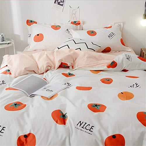 LYJZH Bettwäsche Bettbezug Set, Bettgarnitur Bettwäsche - Gemütlich Mikrofaser mit Bettbezug Kissenbezug Einfaches Baumwollbett-Set in Vier Farben23 1,8 m