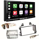 Pioneer AVH-Z9100DAB CarPlay Android Auto Digitalradio USB CD DVD Autoradio Touchscreen Moniceiver Navi Einbauset für KIA Sportage JE Rio JB