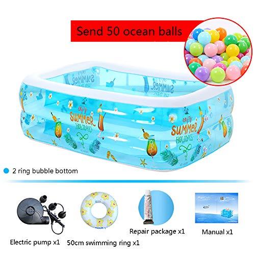 JIA LIANG Haushalt Kinder aufblasbaren Pool Baby verdichtet Baby-Isolierung Schwimmbad,120 * 90 * 36cm (Pool Aufblasbaren 36)