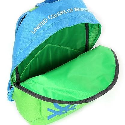 Benetton Mochila Tipo Casual, 11 litros, Color Verde/Azul