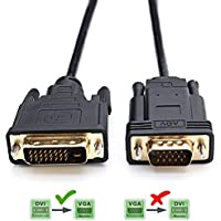 Activo DVI a VGA,YIWENTEC DVI 24+1 DVI-D M a VGA macho con chip for PC y DVD monitor HDTV 2M