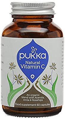 Pukka Herbs Organic Natural Vitamin C - Pack of 60 Capsules by Pukka Herbs Ltd