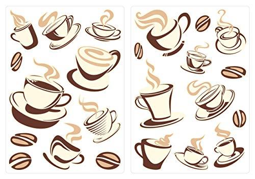 Wandtattoo Kaffee-Sorten I