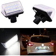 PolarLander Car LED Sin Error Luces de matrícula 12V Blanco SMD Bombillas de matrícula para M