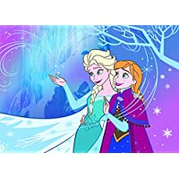 familie24 Disney Frozen Tapis pour Enfant Motif La Reine des Neiges 133 x 95 cm