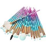 20 PCs Make Up Pinsel Set Pinselset Kosmetikpinsel Schminkpinsel Set Augenpinsel Foundation pinsel Lidschatten Pinsel Lippenpinsel Puderpinsel(E)