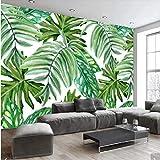 Syssyj Nordic Tropical Blätter Tapeten Wandbilder Für Wohnzimmer Pflanze Blatt Wandbild Aufkleber Tapeten Rolle 3D Gedruckt Fototapeten-200X140CM