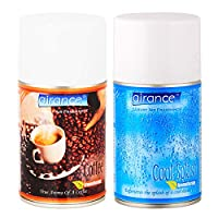 Airance Room Freshner Spray Automatic Refill / Air Freshner / Perfume Spray / Fragrance Aroma Air Freshener Refill - Air Freshener Coffee & Cool Splash - 250 ML - Pack Of Two - Fit all Machines using 250 ML / 300 ML bottles