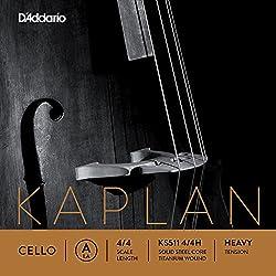 D'Addario Orchestral Helicore - Cuerda individual La para violonchelo, escala 4/4, tensión dura