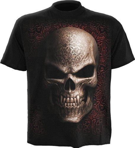 Spiral - Men - GOTH SKULL - T-Shirt Black