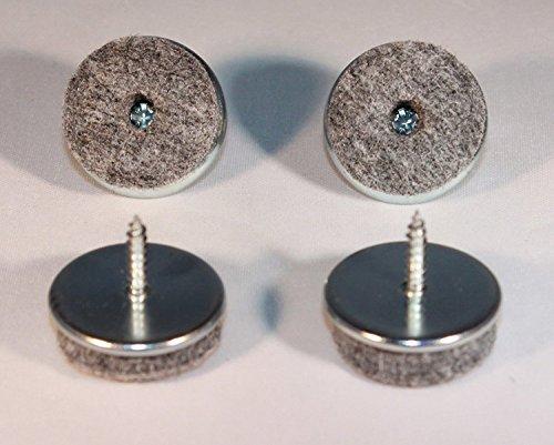 16 Stück Filz-Möbelgleiter mit Schraube - Ø 18 mm - aus Metall / Filzgleiter / Möbelgleiter