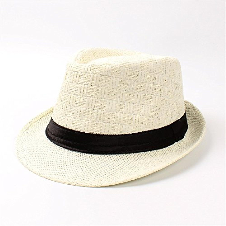 BAOJU Home Cappello Estiva - Cappello da Donna Fedora da Spiaggia Estiva  Cappello da Uomo in Paglia per Gentiluomo Elegante Cappello... Parent 11a765 703a57fc74eb