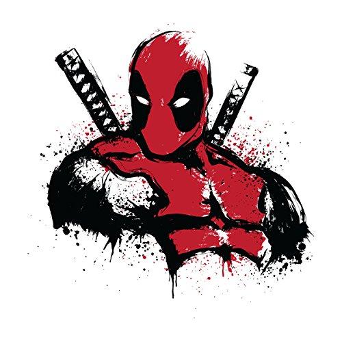Deadpool Merc In Red Men's Baseball Long Sleeved T-Shirt White/Black