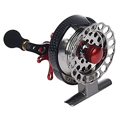 TOOGOO(R) Right hand front end raft fly fishing reel Micro-round lead raft fishing reel for Fishing reel from TOOGOO