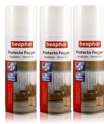 3er Set Beaphar Fogger Ungeziefer Vernebler, 200 ml