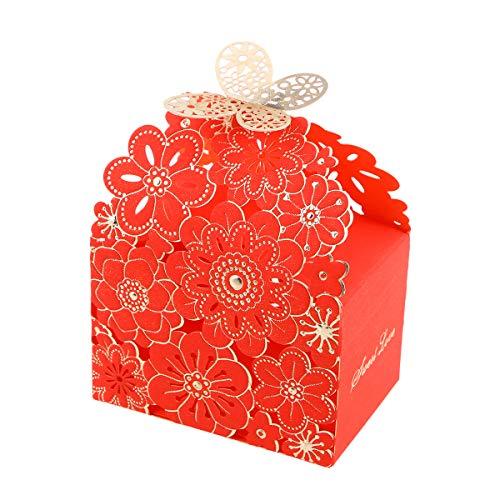 BESTOYARD 20 Stücke Hochzeit Pralinenschachtel Blume Schmetterling Muster Favor Boxen Aushöhlen Handwerk Papier Box Handwerk Papier Candy Halter Geschenkbox Süßigkeiten Süßigkeiten Für Geschenke Party