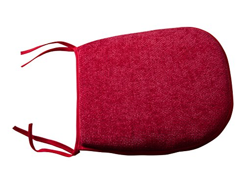 Bedding Direct UK-4-Cuscino per sedile, colore: rosso,