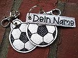 Schlüsselanhänger mit NAMEN personalisierbar Fußball Anhänger für Kindergartentasche Schulranzen Adventskalender Füllung Einschulung Schultüte