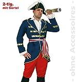 Unbekannt Admiral Kostüm Herren Kapitänkostüm Lord Nelson Kapitän Herrenkostüm