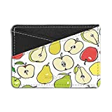 Birnen Apple Fruit Printed Kreditkarte & Bargeld Halter Geldbörse by humblebee London–hb-hch-s1223