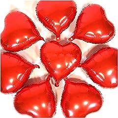 Idea Regalo - Amaoma 50 Pezzi Palloncini Cuore Elio Rossi Palloncini a Forma di Cuore Palloncini Cuore Rosso Decorazioni San Valentino Festa Decorazioni Palloncini per Compleanno Matrimonio San Valentino 18 Pollici