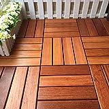 Garten & Terrasse Decking Fliesen Holzboden Spleißboden Balkon Terrasse Outdoor Dekoration Wasserdichter Boden 30 * 30cm 10pic