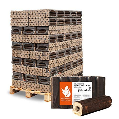 PALIGO Holzbriketts PiniKay Hartholz Eiche Kamin Ofen Brenn Holz Heiz Brikett 10kg x 96 Gebinde 960kg / 1 Palette Heizfuxx
