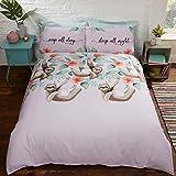 Unbekannt Studio Art Einfach Faultier Animal Print Neuheit Bettbezug Set, Multi, Einzelbett