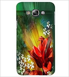 PrintDhaba Flowers D-2290 Back Case Cover for SAMSUNG GALAXY E7 (Multi-Coloured)