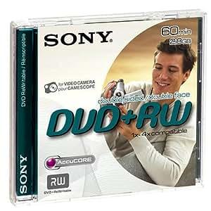 Sony 1 DVD+RW 8 cm pour Caméscope 2,8 Go Double face 60 Minutes DPW60