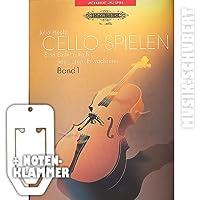 Cello spielen Band 1 inkl. praktischer Notenklammer - Eine Einführung für junge Erwachsene ohne Vorkenntnisse mit vielen Spielstücken für 2 Celli und eingelegter Klavierstimme (Taschenbuch) von Julia Hecht (Noten/Sheetmusic)
