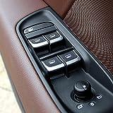 Automan Juego de embellecedores para coche, 7 unidades, cromo, para ventana y puerta de Audi A1A38V A6C7Q3Q5